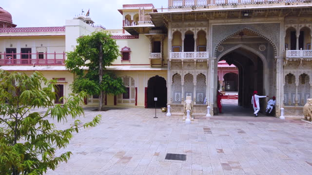 visiting the highlights of the city of amer near jaipur in the rajasthan. india. south asia - produced segment stock videos & royalty-free footage