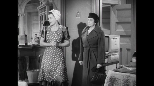 1941 Visiting woman is unimpressed when wife (Irene Dunne) gives her a tour of the apartment