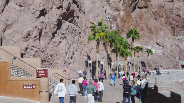 ws visitor walking in dam / nevada, usa - tourist stock videos & royalty-free footage
