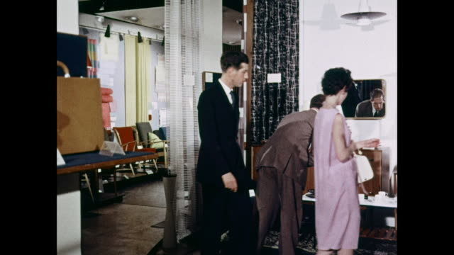 ms visitors at design centre in london / united kingdom - 1959 stock videos & royalty-free footage