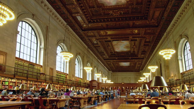 t/l visitors at the new york public library / new york city, new york, united states - library stock videos and b-roll footage