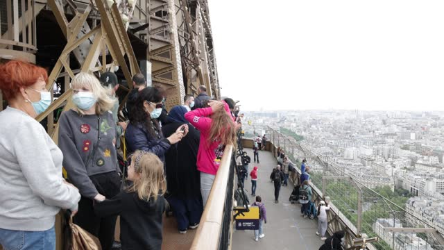 FRA: The Eiffel Tower Reopens To Public