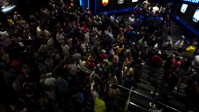 visitors wait inline to enter an imax theater at the smithsonian air and space museum july 19 2019 in washington dc it marks the 50th anniversary on... - anniversary stock videos & royalty-free footage