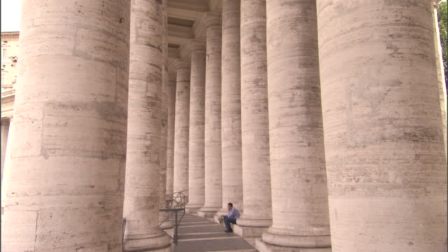 visitors walk through st. peter's square . - vatican city stock videos & royalty-free footage