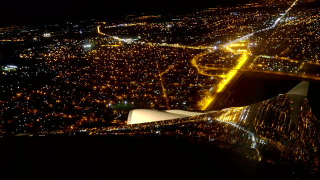 vista aerea di buenos aires di notte - buenos aires stock videos and b-roll footage