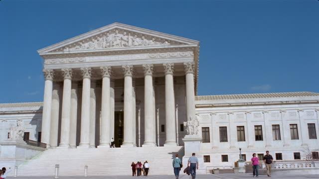 Vistors outside the US Supreme Court building / Washington, DC