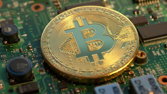 Visual bitcoin on a circuit board Bitcoin is a worldwide digital currency that isn't controlled by a central authority such as a government or bank