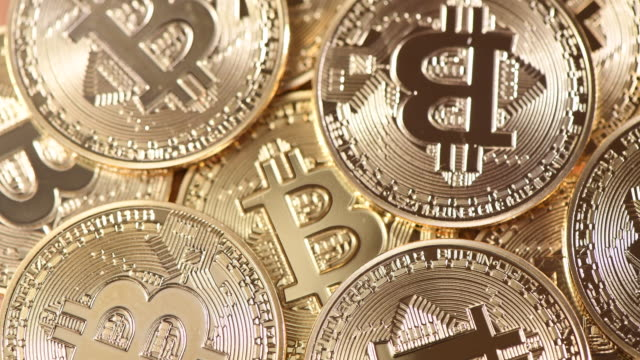 visual representation of the digital cryptocurrency, bitcoin. cryptocurrencies including bitcoin, ethereum, and litecoin saw unprecedented growth in... - bitcoin stock videos & royalty-free footage