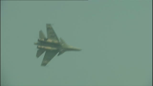 visuals of 89th anniversary of indian air force day celebration in ghaziabad on october 8, 2021. the 2021 iaf day parade is being held as a tribute... - g force stock videos & royalty-free footage