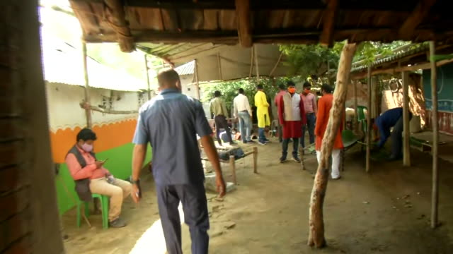 visuals of the houses in the bankura, west bengal where the home minister amit shah was scheduled to go on november 5, 2020. the party workers and... - freshly painted stock videos & royalty-free footage