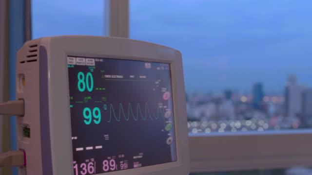 vital signs monitor at hospital - laboratory equipment stock videos & royalty-free footage