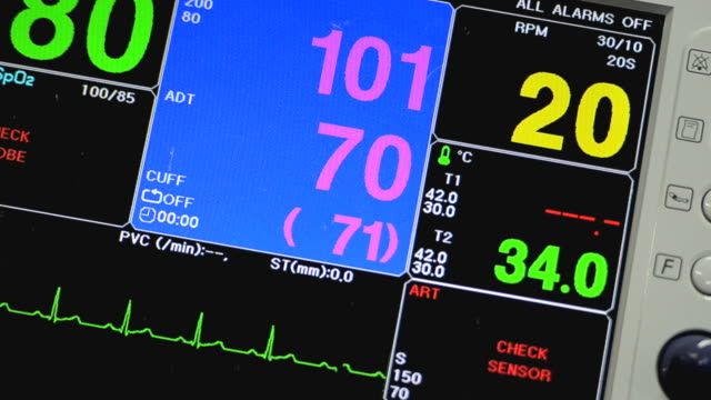 vital signs monitor - pulse oxymeter stock videos and b-roll footage