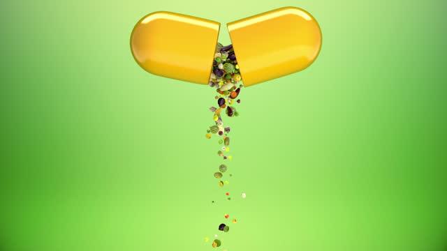 vídeos y material grabado en eventos de stock de suplementos vitamínicos - resolución 4k - vitamina a