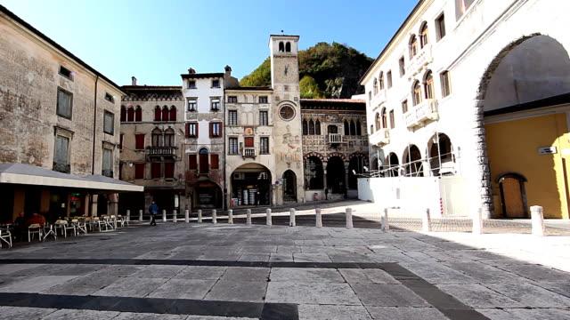 vitorio veneto, italia del xvi secolo, città - stile del xvi secolo video stock e b–roll