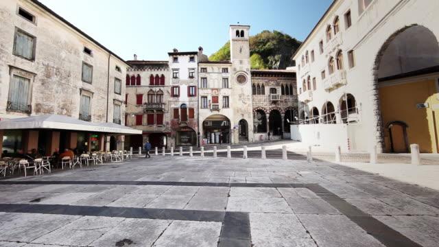 vitorio veneto, italian town 4k - stile del xvi secolo video stock e b–roll