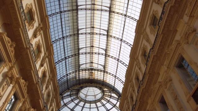 vittorio emanuele ii gallery - symmetry stock videos & royalty-free footage