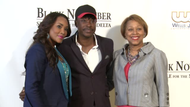 vivica a fox jeta amata and guest at black november screening in washington dc at the john f kennedy center for performing arts on may 08 2012 in... - john f. kennedy center for the performing arts stock videos and b-roll footage