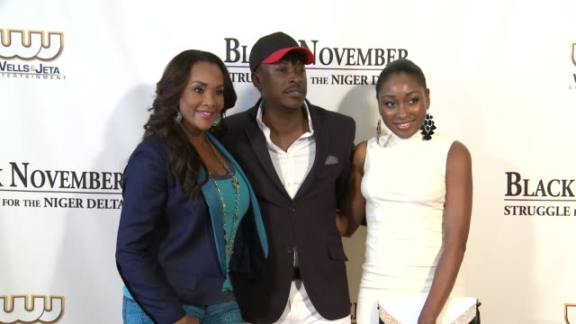 vivica a fox jeta amata and mbong amata black november screening in washington dc at the john f kennedy center for performing arts on may 08 2012 in... - john f. kennedy center for the performing arts stock videos and b-roll footage