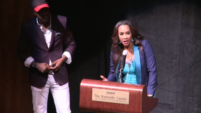 vivica a fox on jeta amata working hard to get this movie done on her african counterparts doing well by her black november screening in washington... - john f. kennedy center for the performing arts stock videos & royalty-free footage