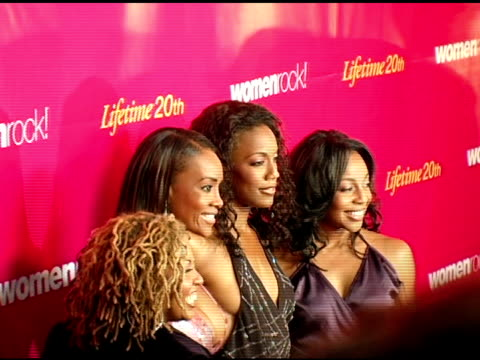 vivica a fox with en vogue at the 5th annual women rock concert at the wiltern theater in los angeles california on september 28 2004 - wiltern theater stock videos and b-roll footage
