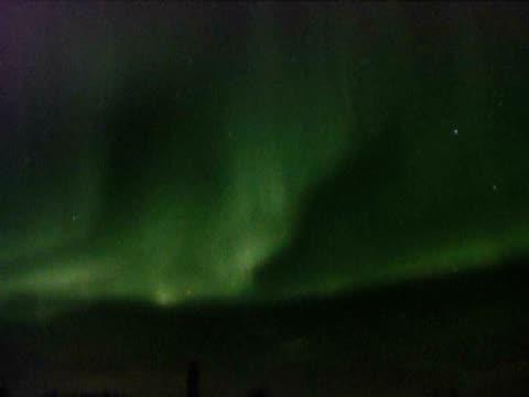 Vivid Aurora borealis, Northern Lights, Karasjok, Norway, February 2008