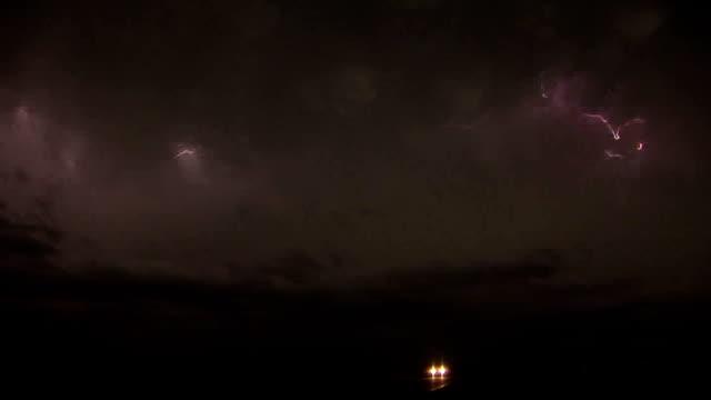Vivid Lightning At Night - Supercell Thunderstorm