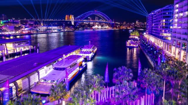 vivid sydney 2019 - arte, cultura e spettacolo video stock e b–roll
