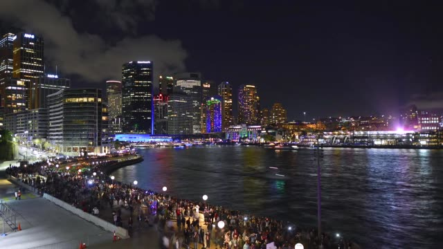 vivid sydney show, australia - multi coloured stock videos & royalty-free footage