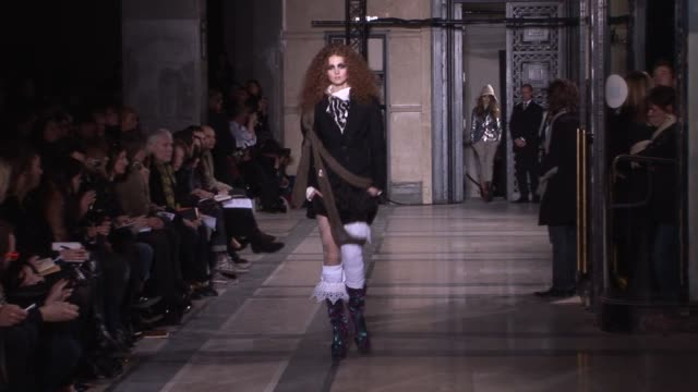 vivienne westwood at the vivienne westwood: paris fashion week a/w 2009 at paris . - fashion show stock videos & royalty-free footage