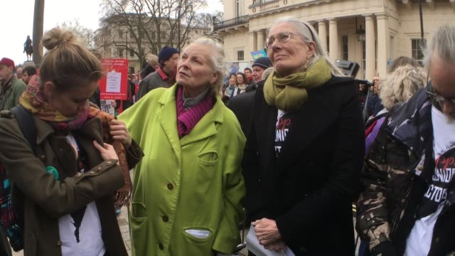 CLEAN Vivienne Westwood Vanessa Redgrave lend their support to the Junior Doctors Protest on February 6 2016 in London England