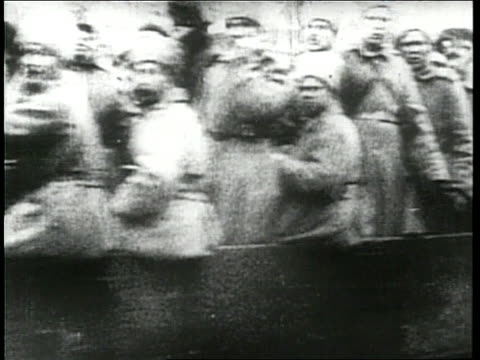 vladimir lenin deposes czar nicholas ii in the october 1917 bolshevik revolution - revolution stock videos & royalty-free footage