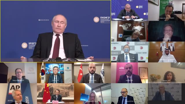 """vladimir putin has urged against interference in russian-british relations after the head of mi6 described the nation as a """"declining power"""" and... - mi6 stock-videos und b-roll-filmmaterial"""