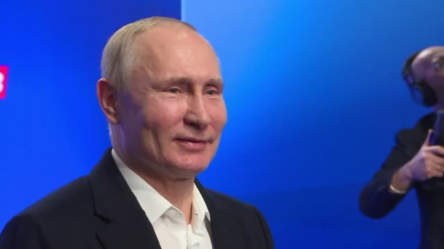 Vladimir Putin says claims Russia behind Skripal poisoning in Britain are drivel as he cruises to victory in Russia's presidential election