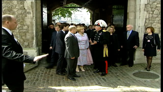 tower of london tour england london the tower of london ls vladimir putin and wife lyudmila putina along with general sir roger wheeler through... - fortress stock videos & royalty-free footage