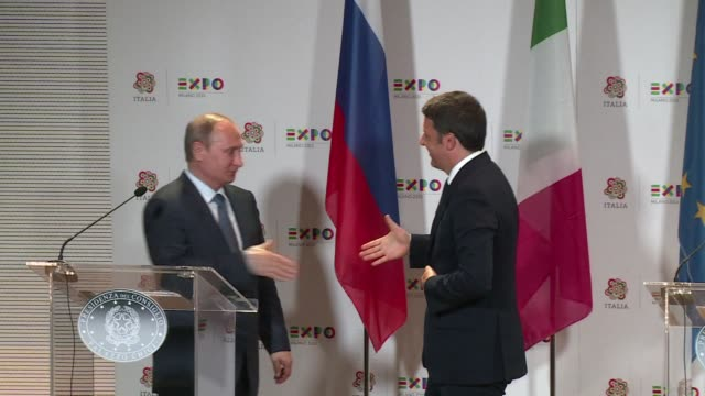 stockvideo's en b-roll-footage met vladimir putin took his case against international sanctions to italy on wednesday, claiming they would cost italian companies a billion euros and... - assertiviteit
