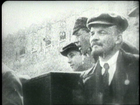 vladmir lenin stands with other men. - communism stock videos & royalty-free footage