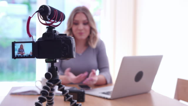 vlogging - filming stock videos & royalty-free footage