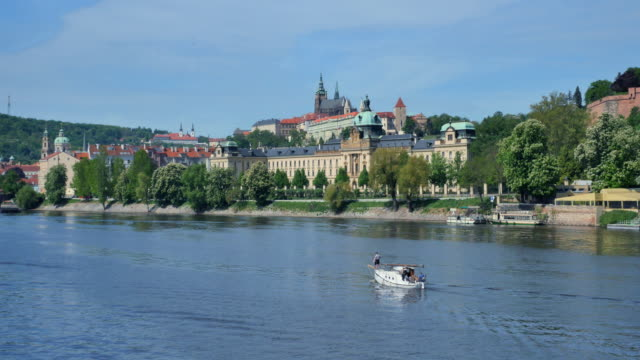 Vltava River and Castle District, Prague