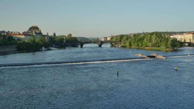 vltava river, prague - charles bridge stock videos & royalty-free footage