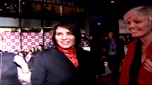 celebrities on red carpet Sadie Frost and Mairead interview SOT Favourite live music performance of 2006 General views Sadie Frost posing for press...