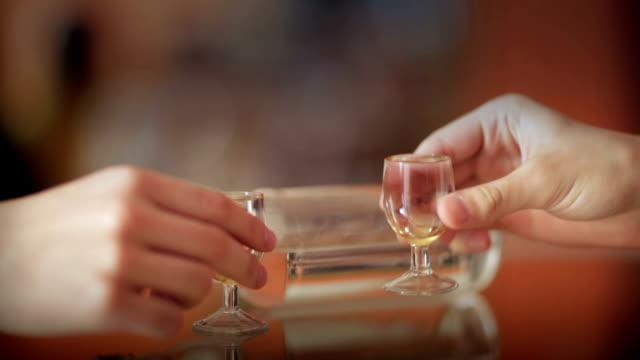 ウォッカの乾杯 - ウォッカ点の映像素材/bロール