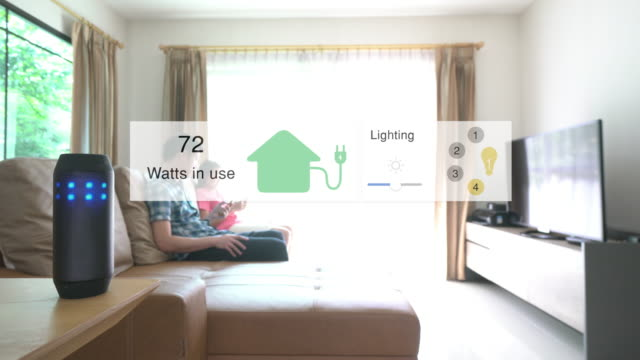 voice command for home automation and smart home technology - home automation stock videos & royalty-free footage