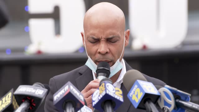 """voices for seniors"""", elected officials and family members hold a press conference and candlelight vigil at manhattan's foley square for the more than... - pastor stock videos & royalty-free footage"""