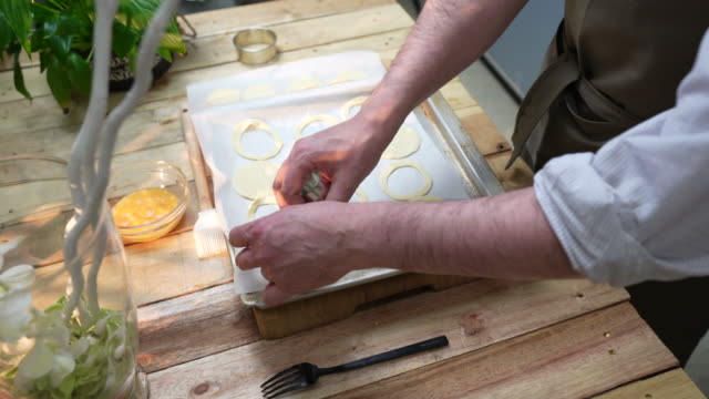 vol-au-vent puff pastry - puff pastry stock videos & royalty-free footage