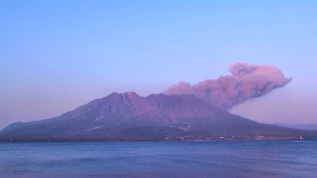 hd: volcanic eruption of sakurajima volcano (video) - erupting stock videos & royalty-free footage
