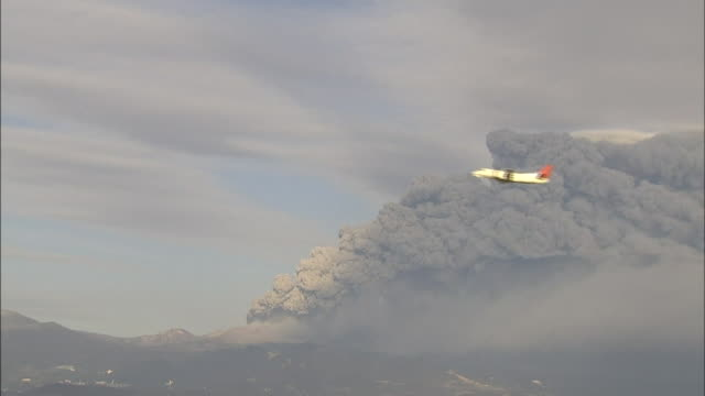 volcanic eruption of shinmoedake - ash stock videos & royalty-free footage