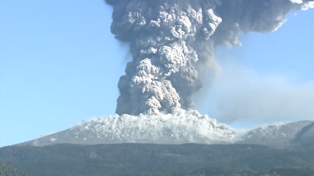 Volcanic Eruption Of Shinmoedake