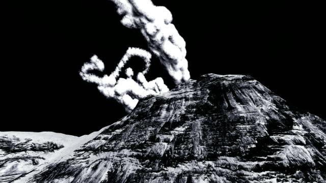Vulkaanuitbarsting op het eiland