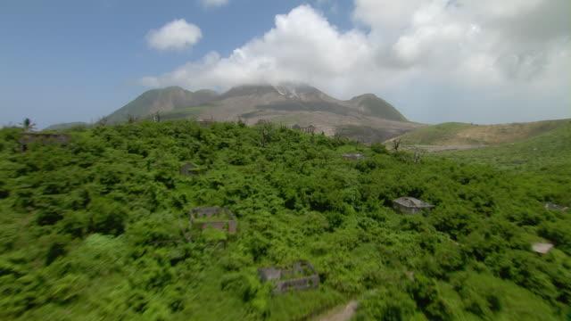 Volcanic flow on Montserrat Island in the Caribbean.
