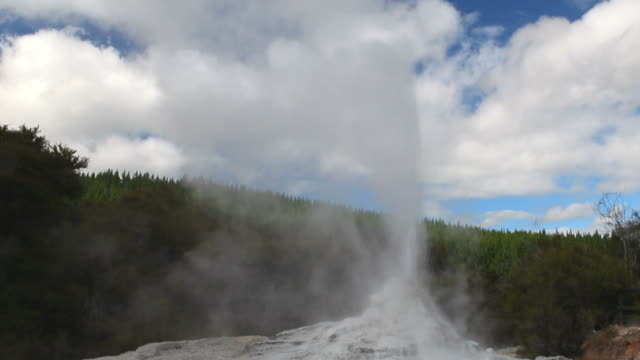 vulkanische-new zealand - geysir stock-videos und b-roll-filmmaterial